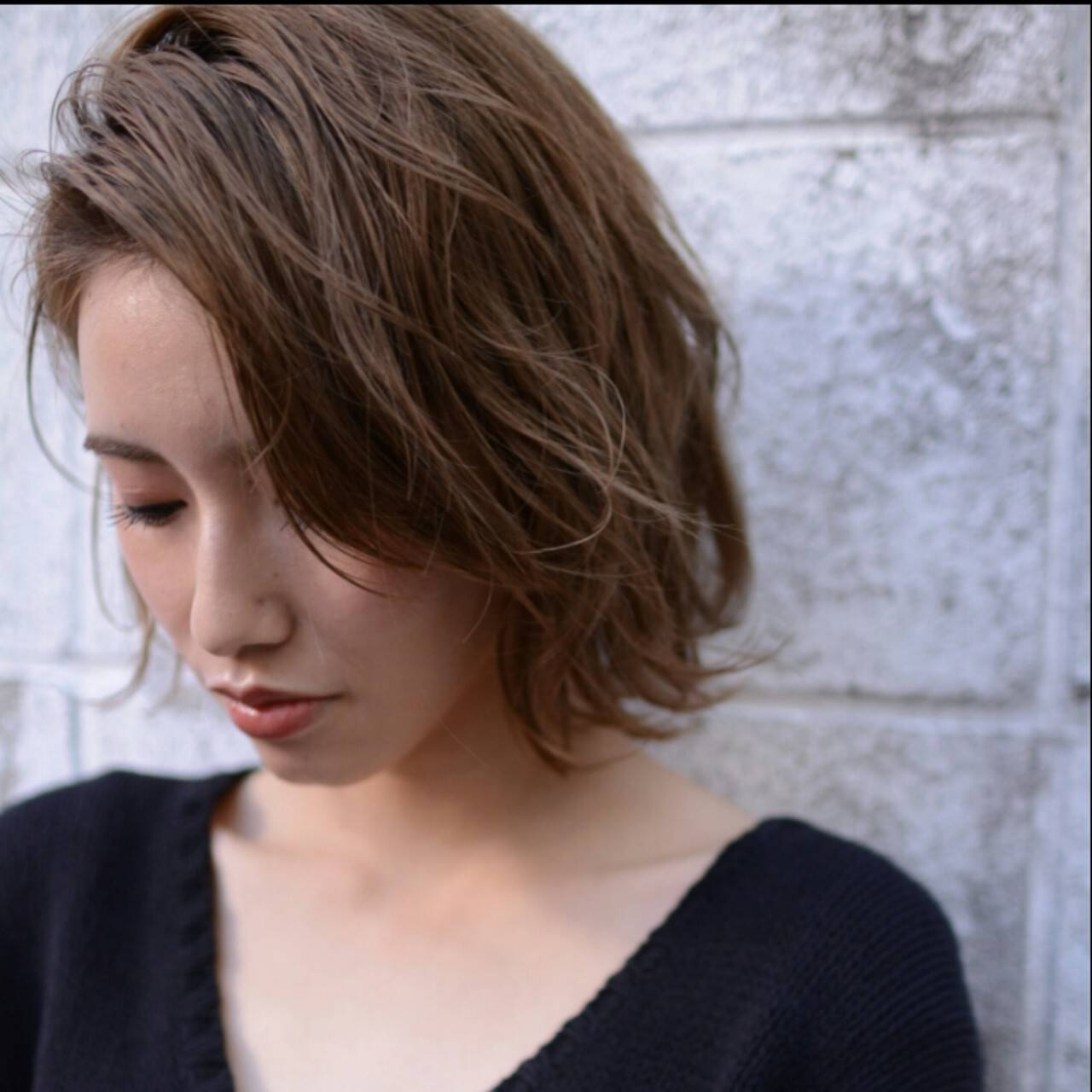 ショート 冬 外国人風 ナチュラルヘアスタイルや髪型の写真・画像