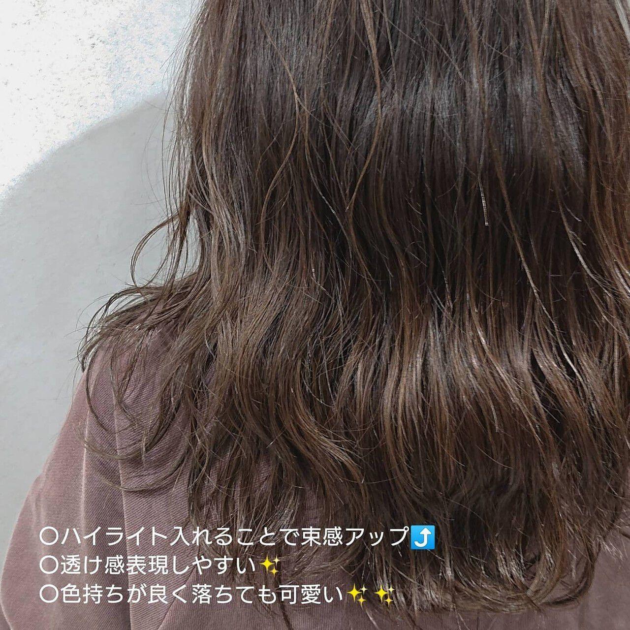 ナチュラル 3Dハイライト バレイヤージュ 外国人風カラーヘアスタイルや髪型の写真・画像