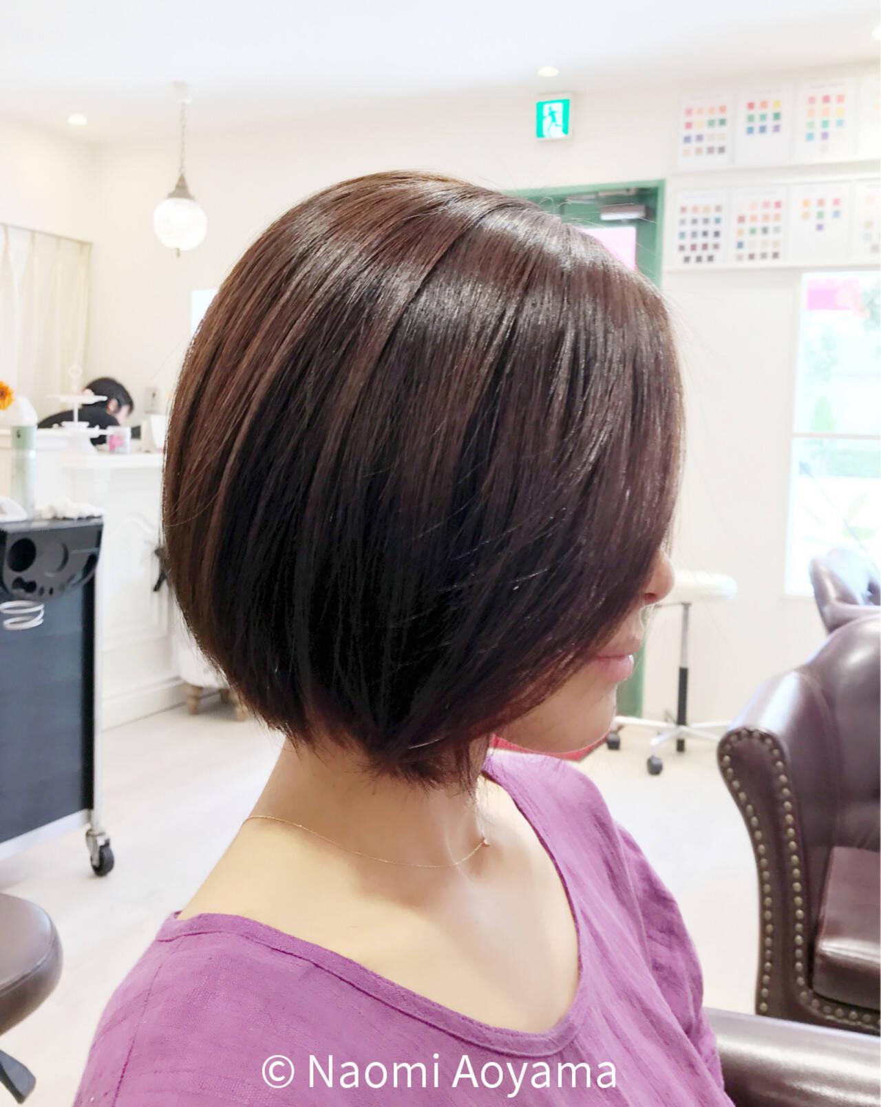 ストレート 色気 ナチュラル ボブヘアスタイルや髪型の写真・画像