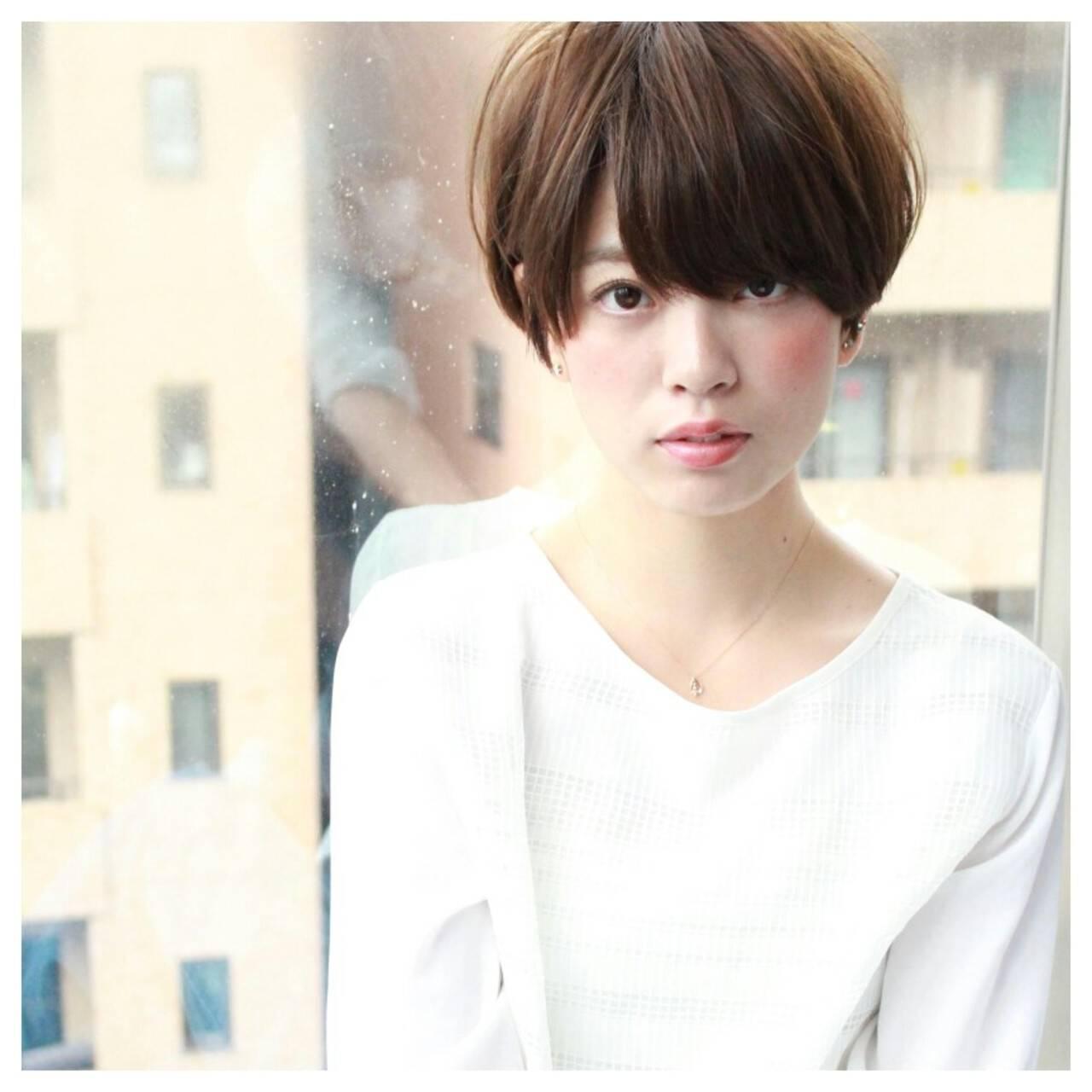 小顔 こなれ感 大人女子 ショートヘアスタイルや髪型の写真・画像