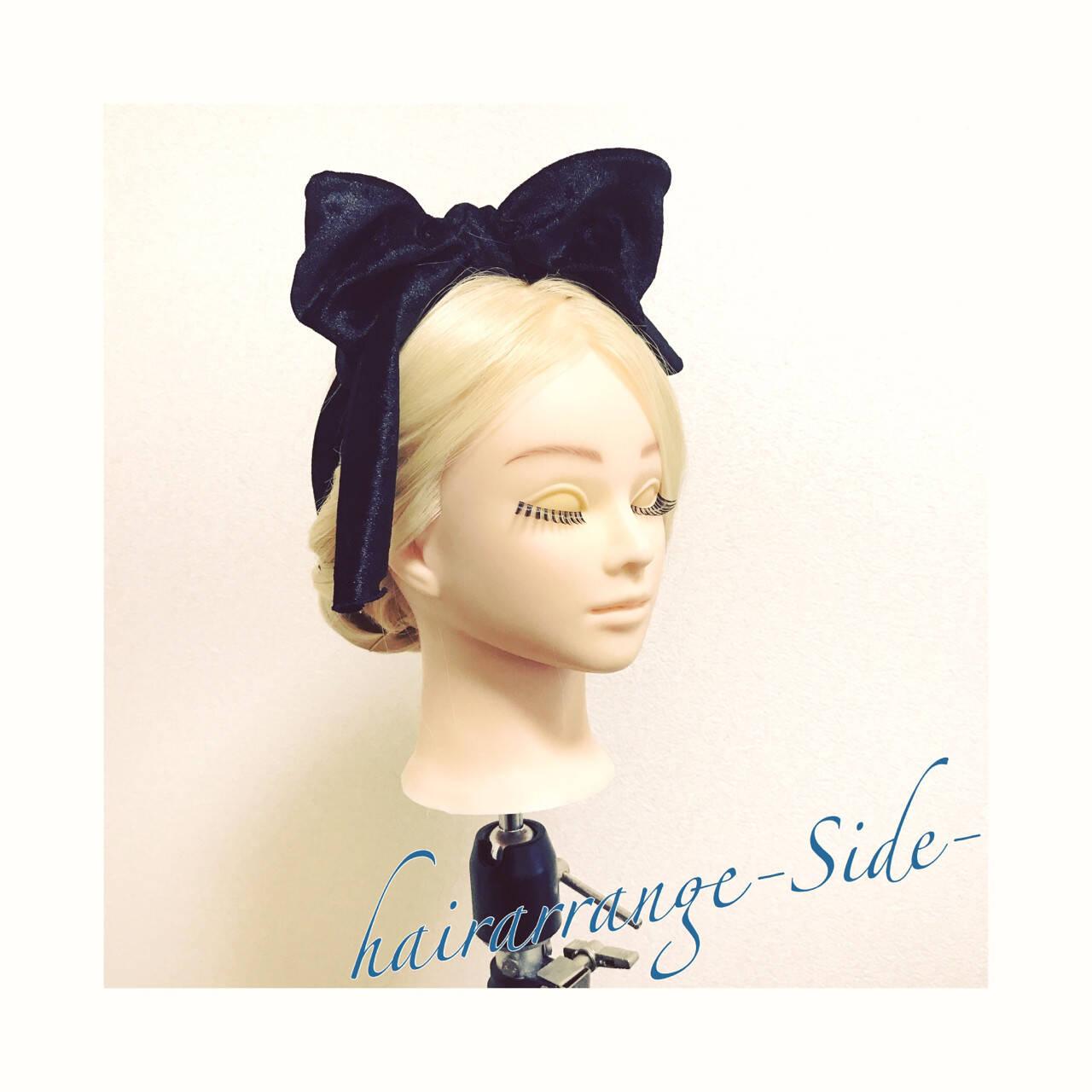 ヘアアレンジ ヘアアクセ ロング ギブソンタックヘアスタイルや髪型の写真・画像