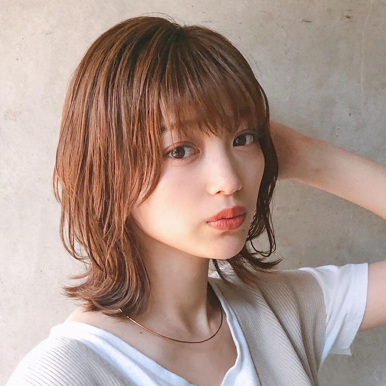 アンニュイほつれヘア デート ヘアアレンジ ミディアムヘアスタイルや髪型の写真・画像