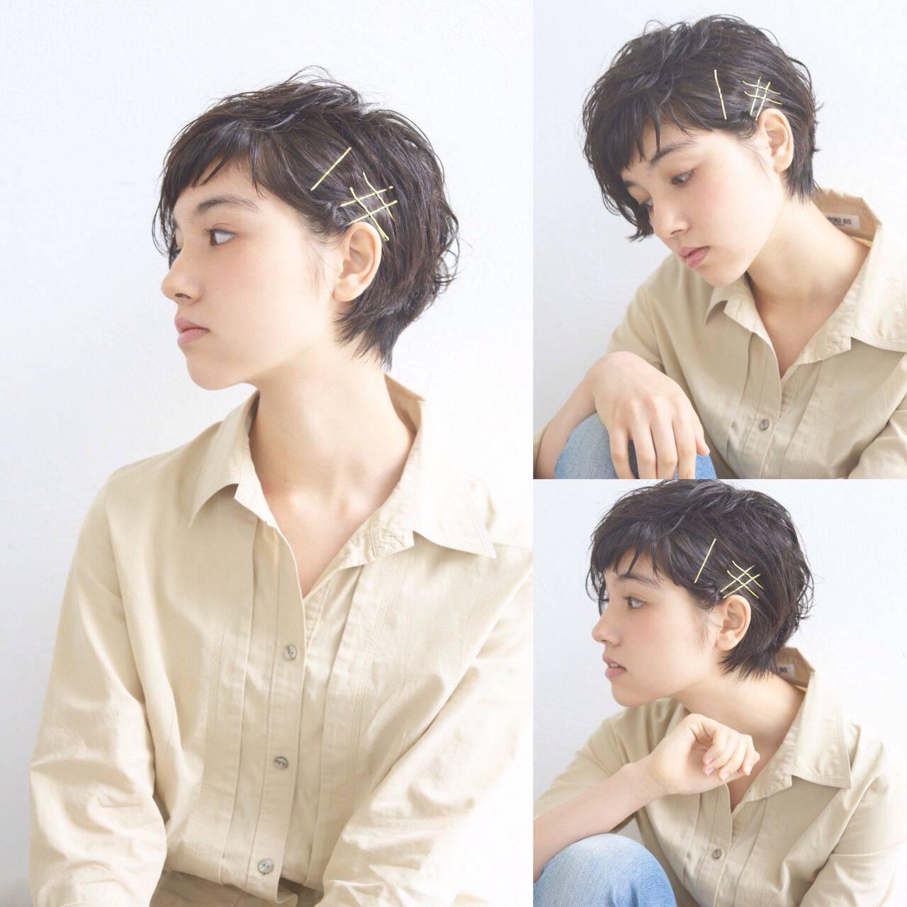 フェミニン ストリート ショート 外国人風ヘアスタイルや髪型の写真・画像