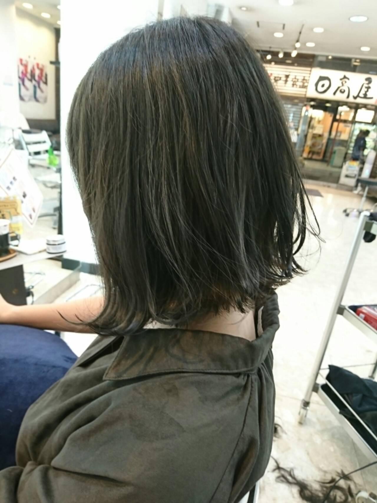 ナチュラル ボブヘアスタイルや髪型の写真・画像