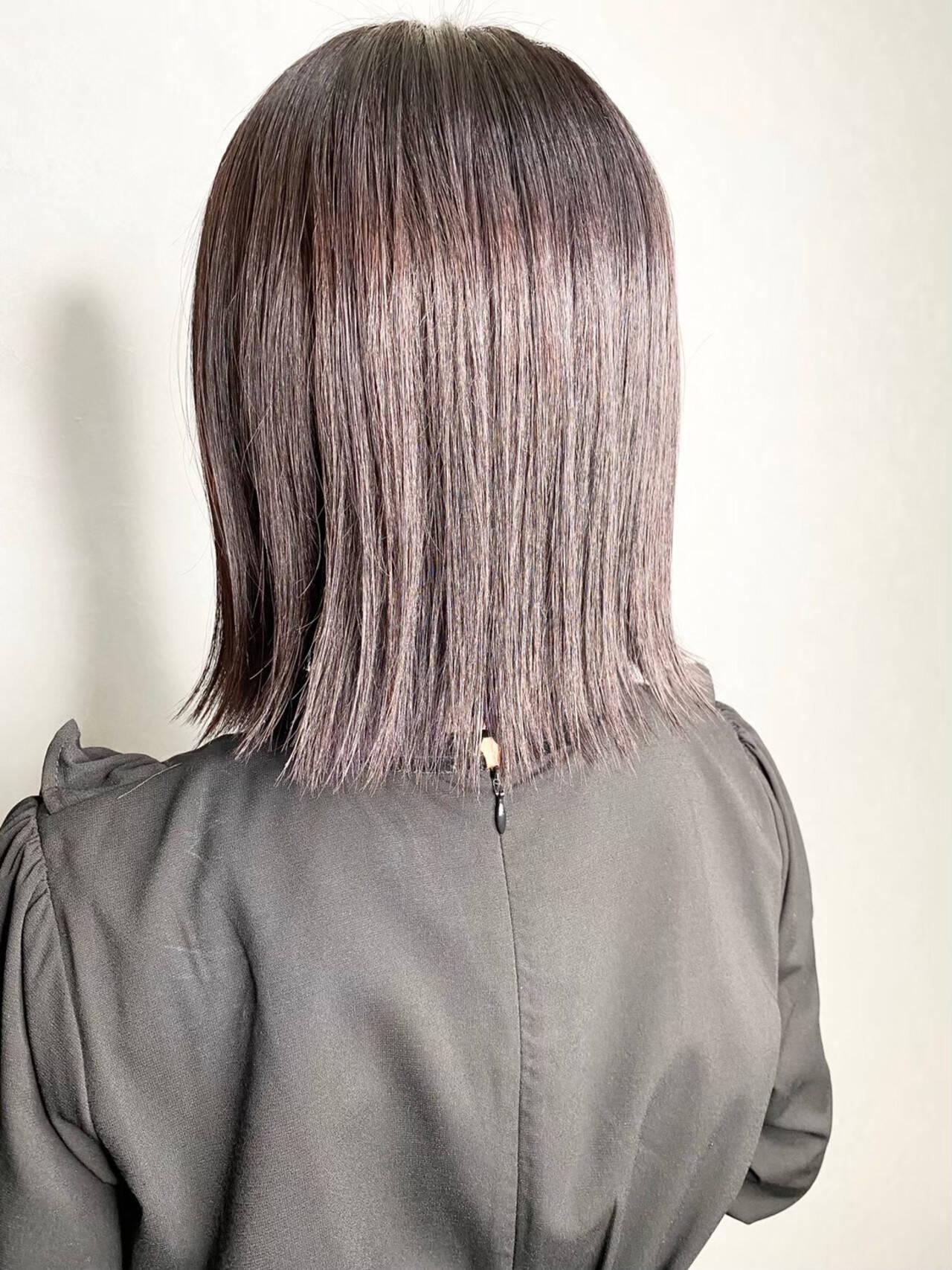 アンニュイほつれヘア ナチュラル ミニボブ ボブヘアスタイルや髪型の写真・画像