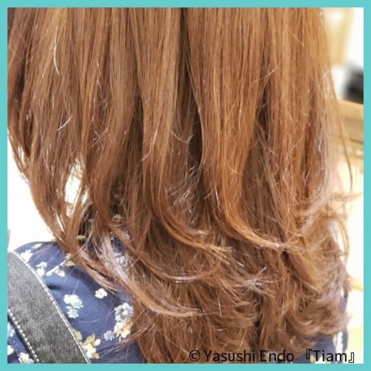 ナチュラル トリートメント 髪質改善トリートメント ミディアムヘアスタイルや髪型の写真・画像