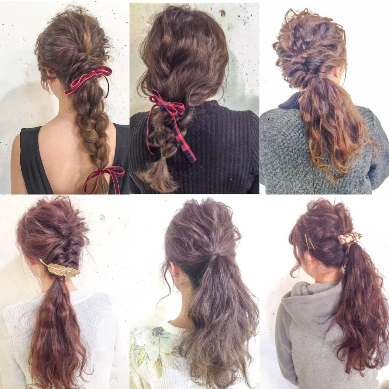 アップスタイル ヘアアレンジ ストリート ウェーブヘアスタイルや髪型の写真・画像