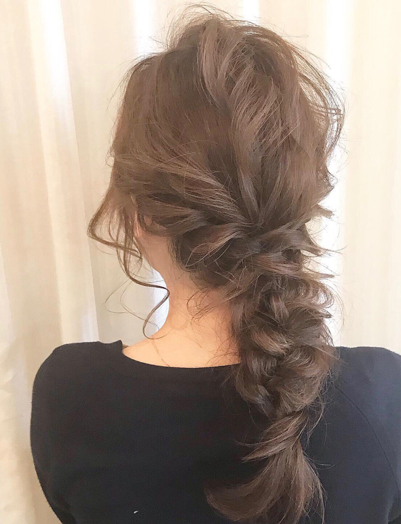 編みおろし 編みおろしヘア 簡単ヘアアレンジ ヘアアレンジヘアスタイルや髪型の写真・画像