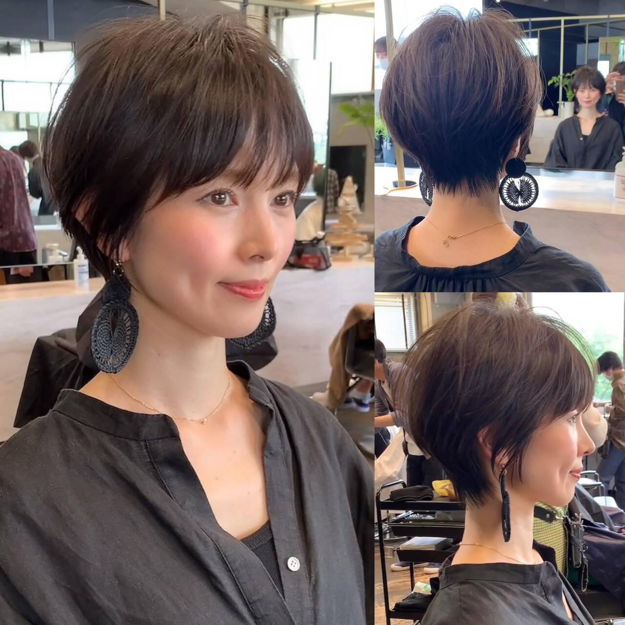 ショートボブ 吉瀬美智子 ショート ショートヘアヘアスタイルや髪型の写真・画像
