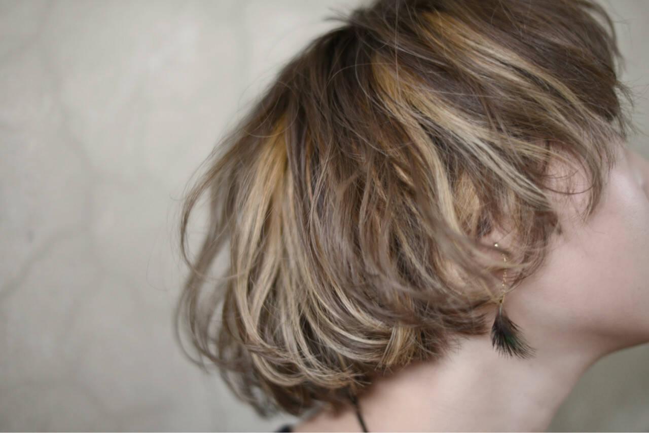 ボブ ストリート ハイトーン 外国人風ヘアスタイルや髪型の写真・画像