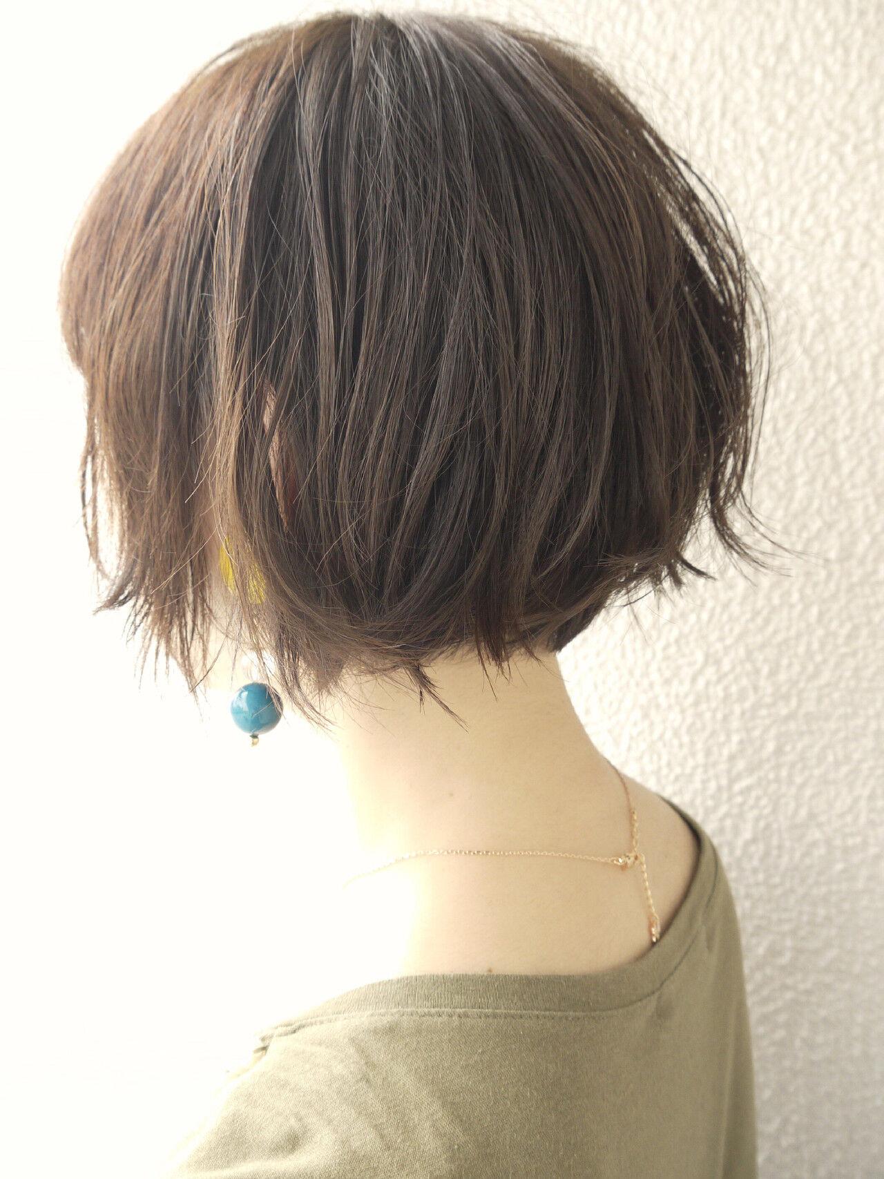 大人ショート エレガント ボブ 大人かわいいヘアスタイルや髪型の写真・画像