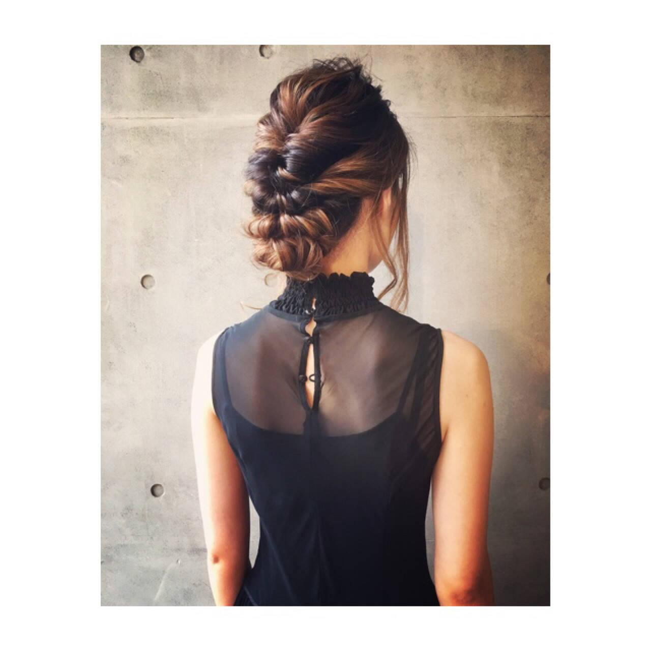 二次会 デート ヘアアレンジ ロングヘアスタイルや髪型の写真・画像