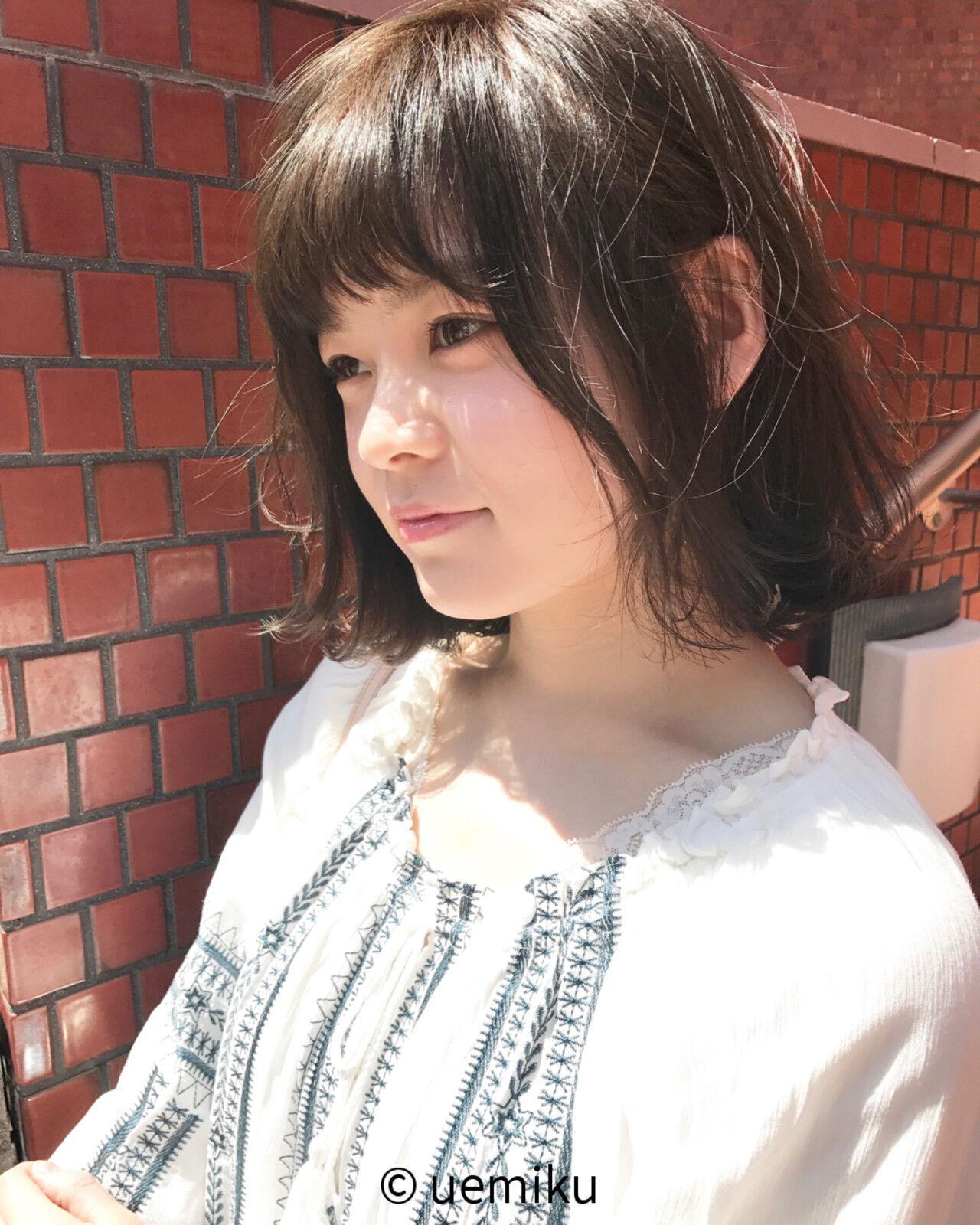 外ハネ リラックス 大人かわいい ボブヘアスタイルや髪型の写真・画像