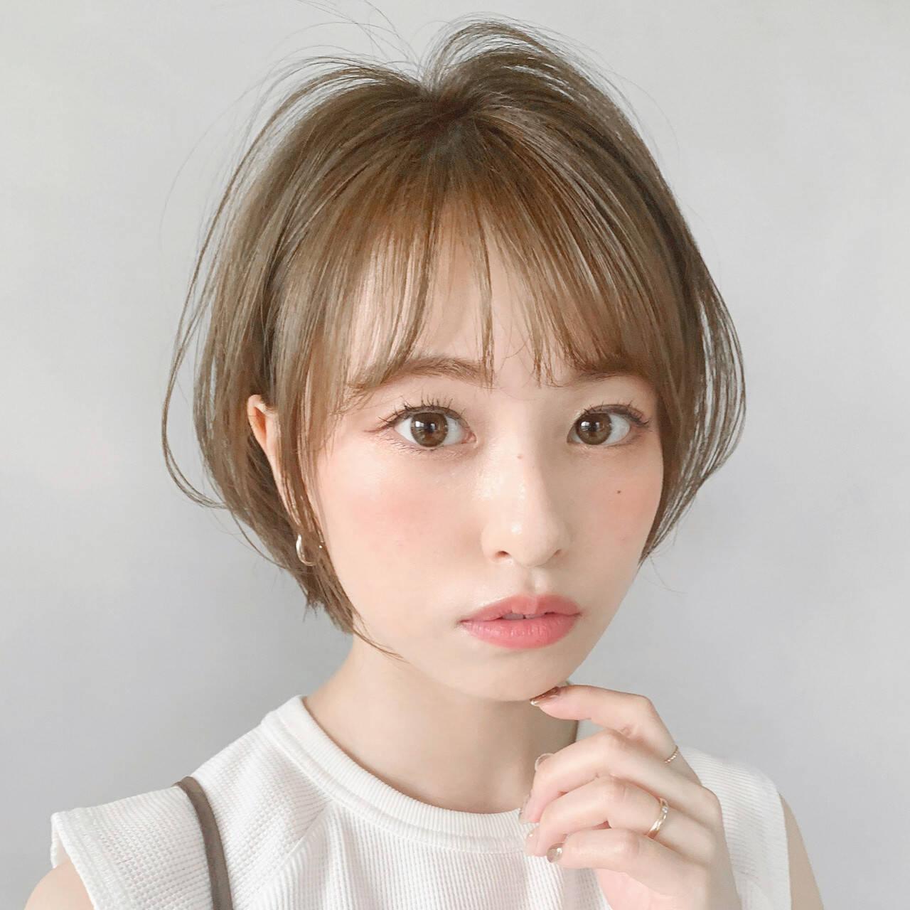 ショート フェミニン ショートボブ 大人かわいいヘアスタイルや髪型の写真・画像