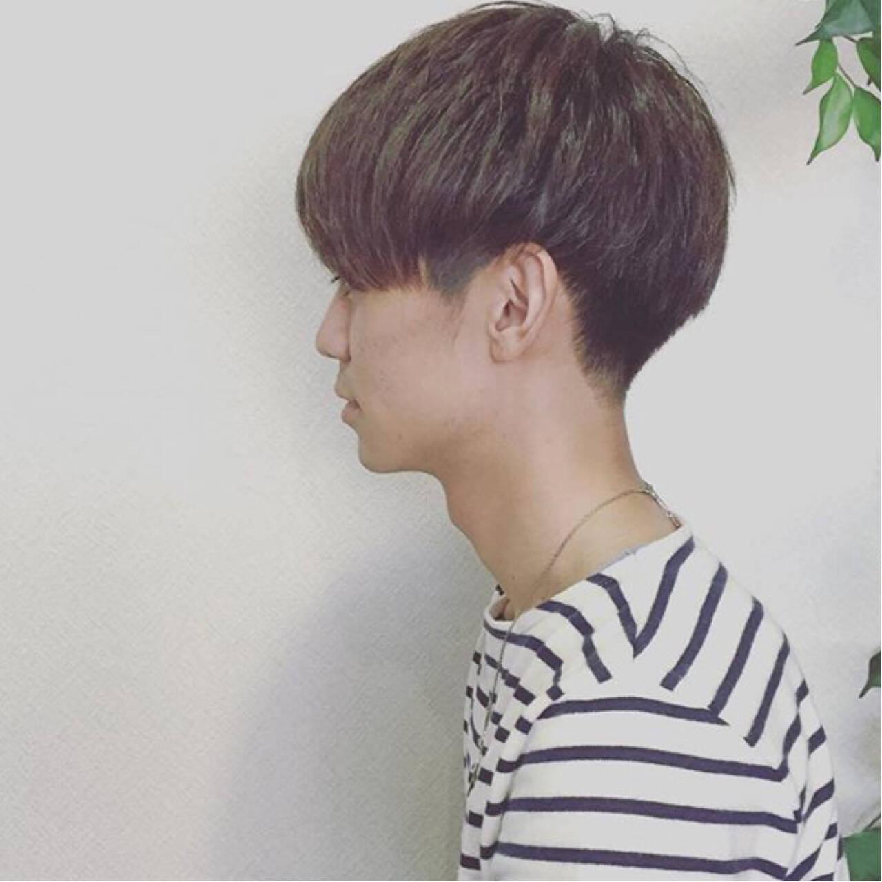 ショート ボーイッシュ メンズ マッシュヘアスタイルや髪型の写真・画像