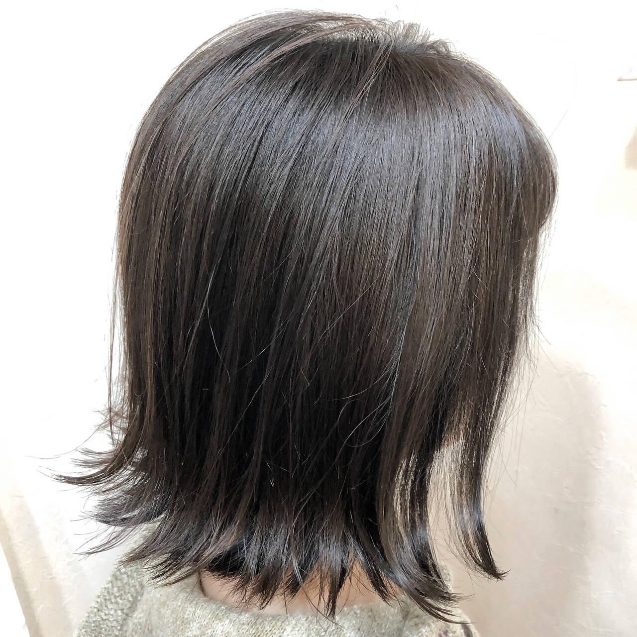 ナチュラル 透明感 アディクシーカラー ボブヘアスタイルや髪型の写真・画像