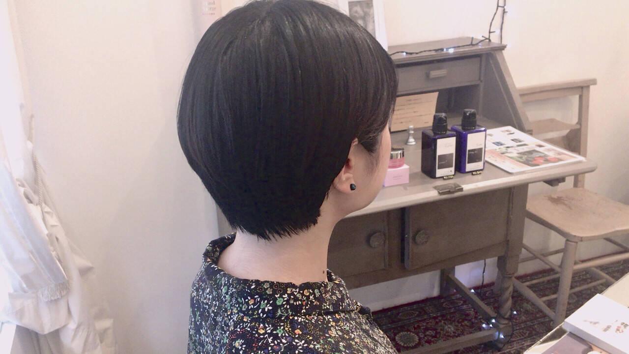 小顔 簡単ヘアアレンジ 春 ショートヘアスタイルや髪型の写真・画像