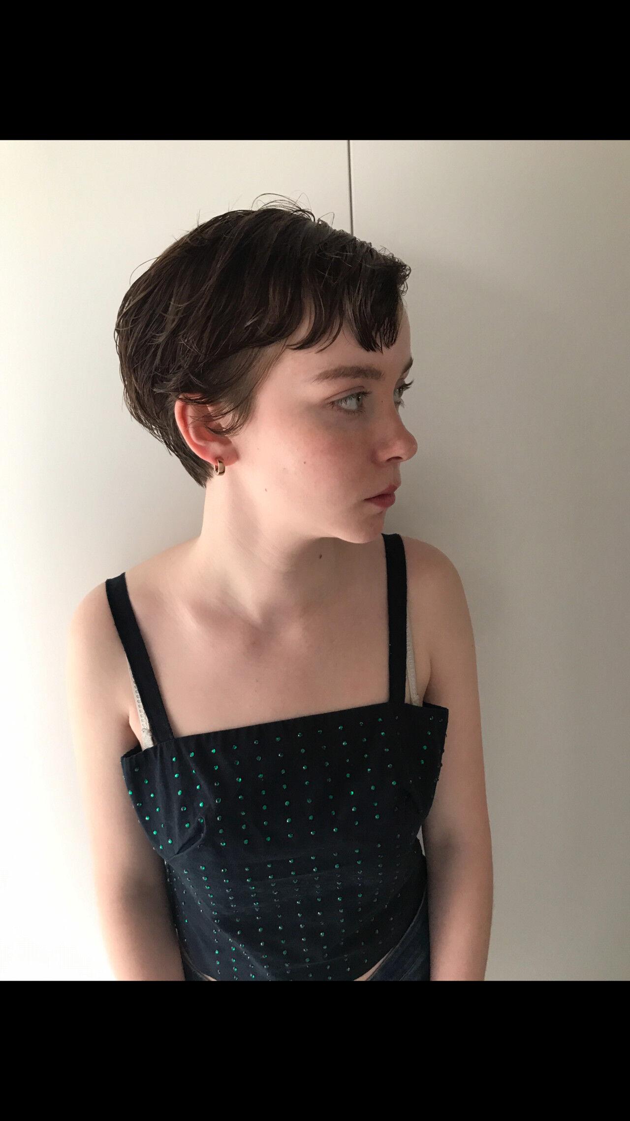 ハンサムショート マッシュショート パーマ ショートヘアスタイルや髪型の写真・画像