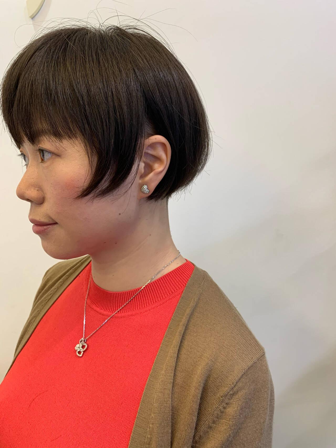 ショートヘア モード 切りっぱなしボブ ベリーショートヘアスタイルや髪型の写真・画像