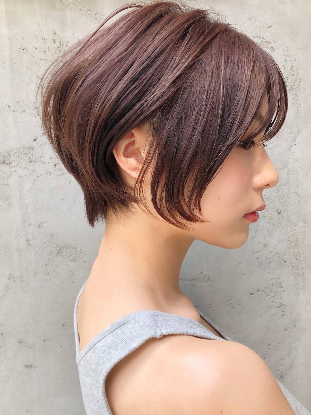 ハンサムショート ショートヘア アンニュイほつれヘア ショートヘアスタイルや髪型の写真・画像