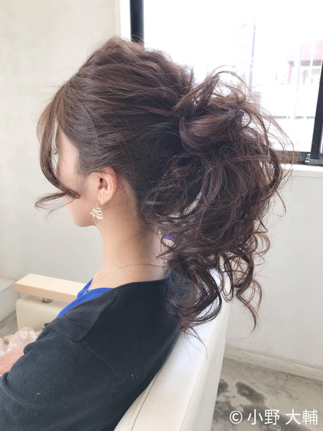 涼しげ ヘアアレンジ ポニーテール 結婚式ヘアスタイルや髪型の写真・画像
