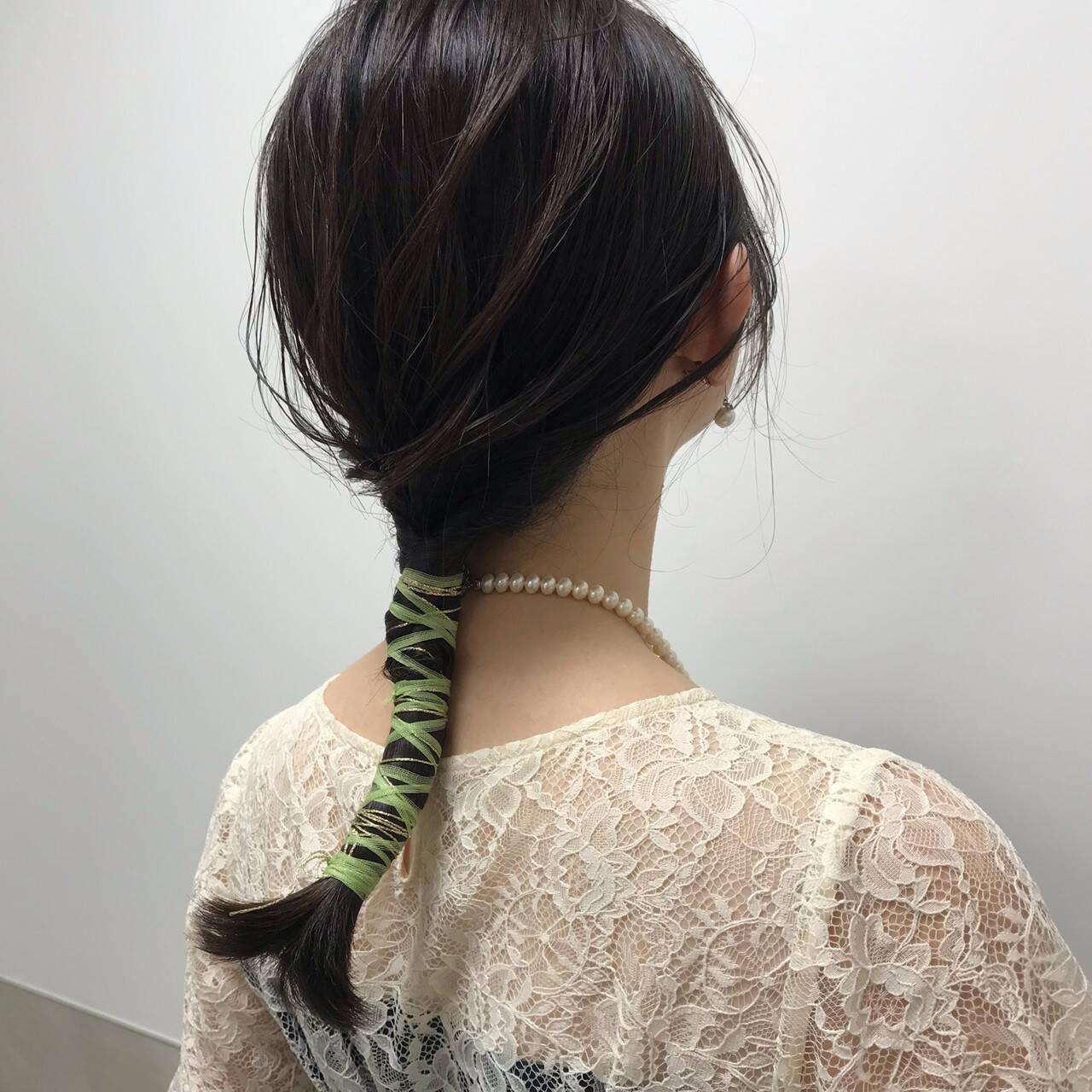 ヘアカラー セミロング エレガント ヘアアレンジヘアスタイルや髪型の写真・画像