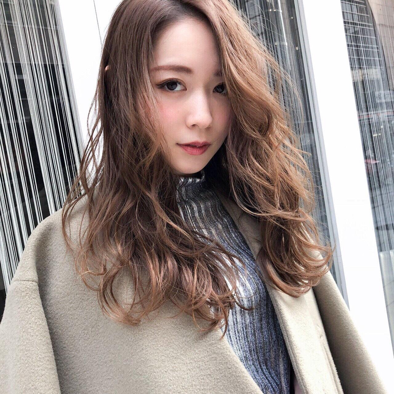 大人かわいい 女子会 フェミニン 冬ヘアスタイルや髪型の写真・画像