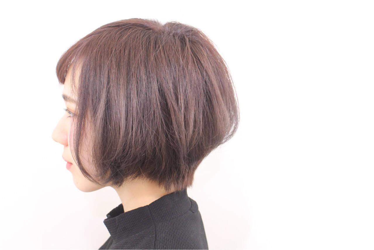 ショート ガーリー 春 ショートボブヘアスタイルや髪型の写真・画像