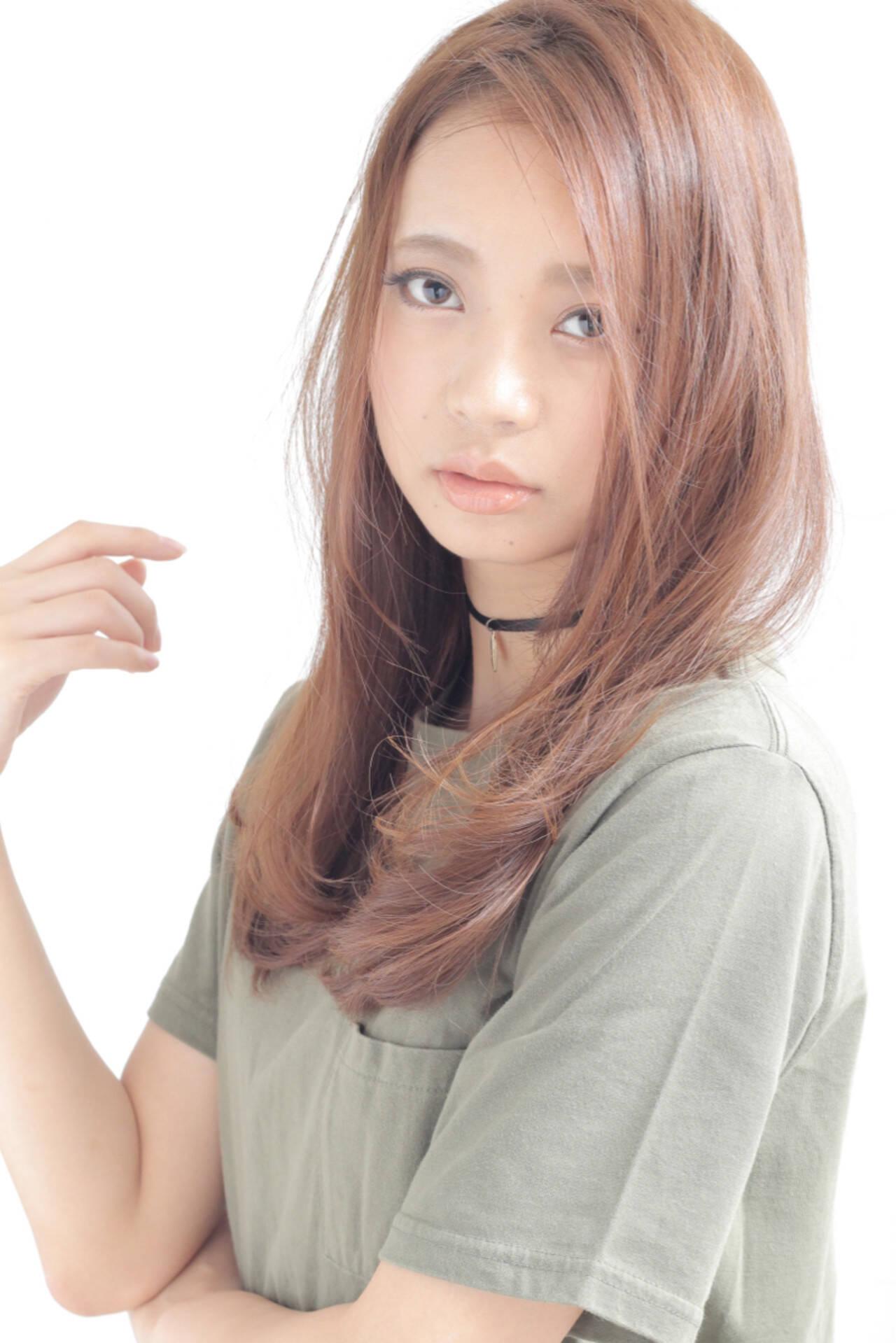 コンサバ 大人かわいい 外国人風 ロングヘアスタイルや髪型の写真・画像