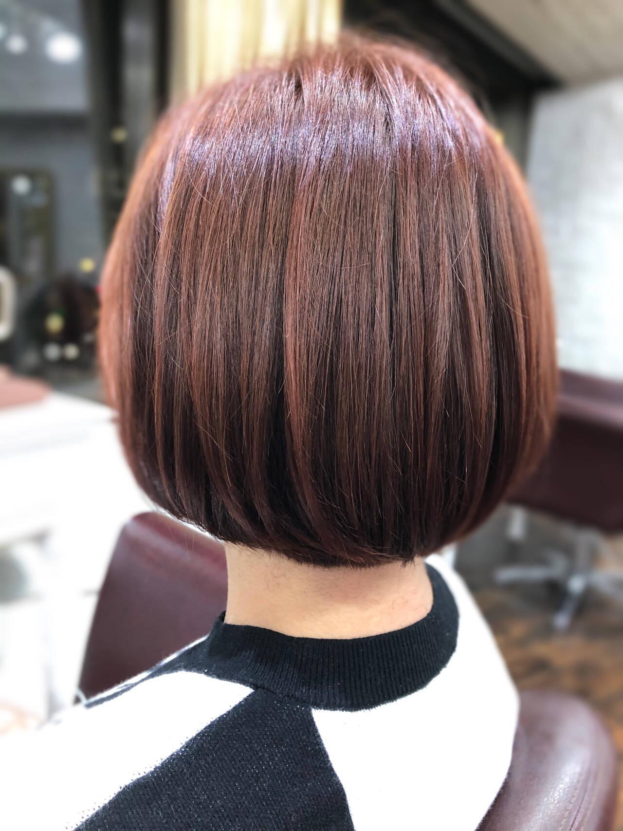 フェミニン モテ髪 ボブ ミニボブヘアスタイルや髪型の写真・画像