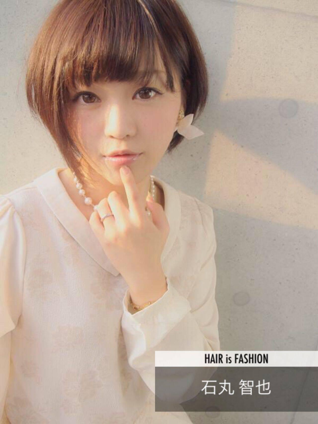 ショート モテ髪 フェミニン コンサバヘアスタイルや髪型の写真・画像