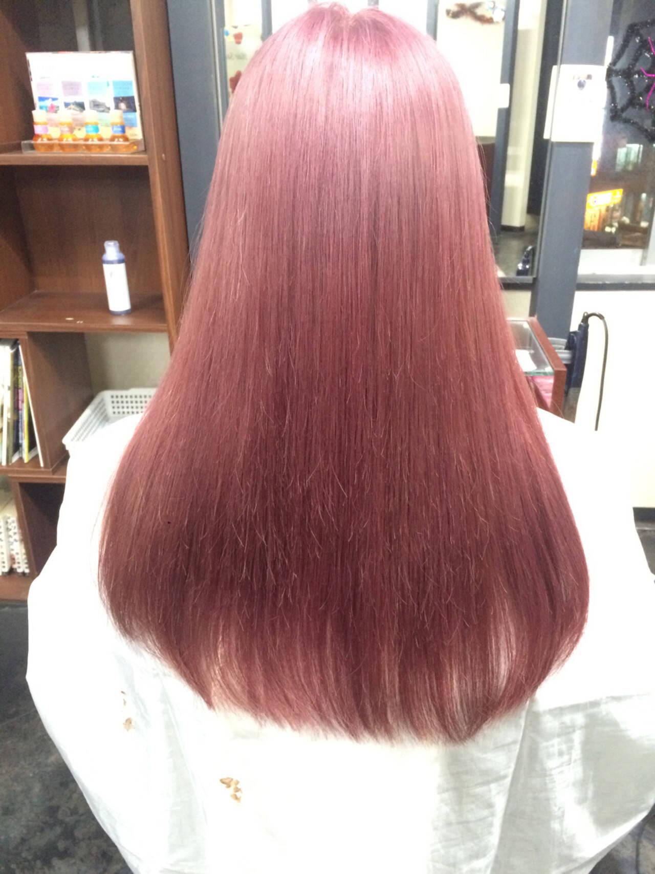 フェミニン ロング パープル ガーリーヘアスタイルや髪型の写真・画像