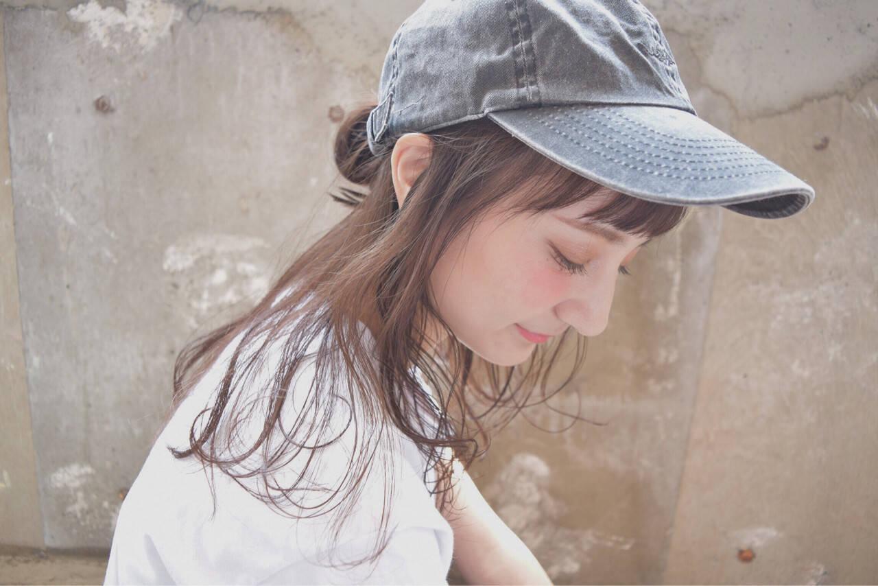 ピュア ミディアム ヘアアレンジ ゆるふわヘアスタイルや髪型の写真・画像