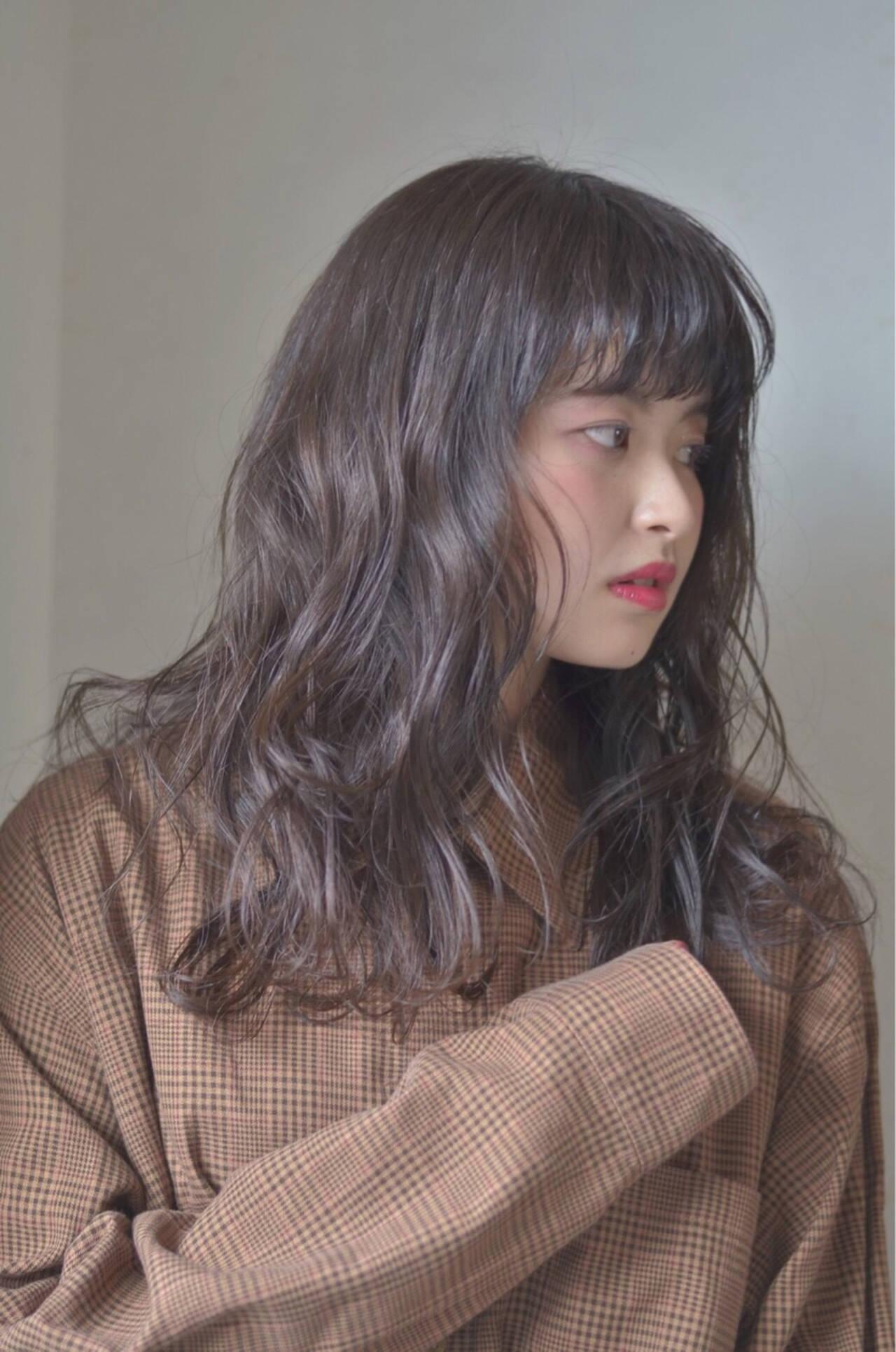 前髪あり ロング ナチュラル 春ヘアスタイルや髪型の写真・画像