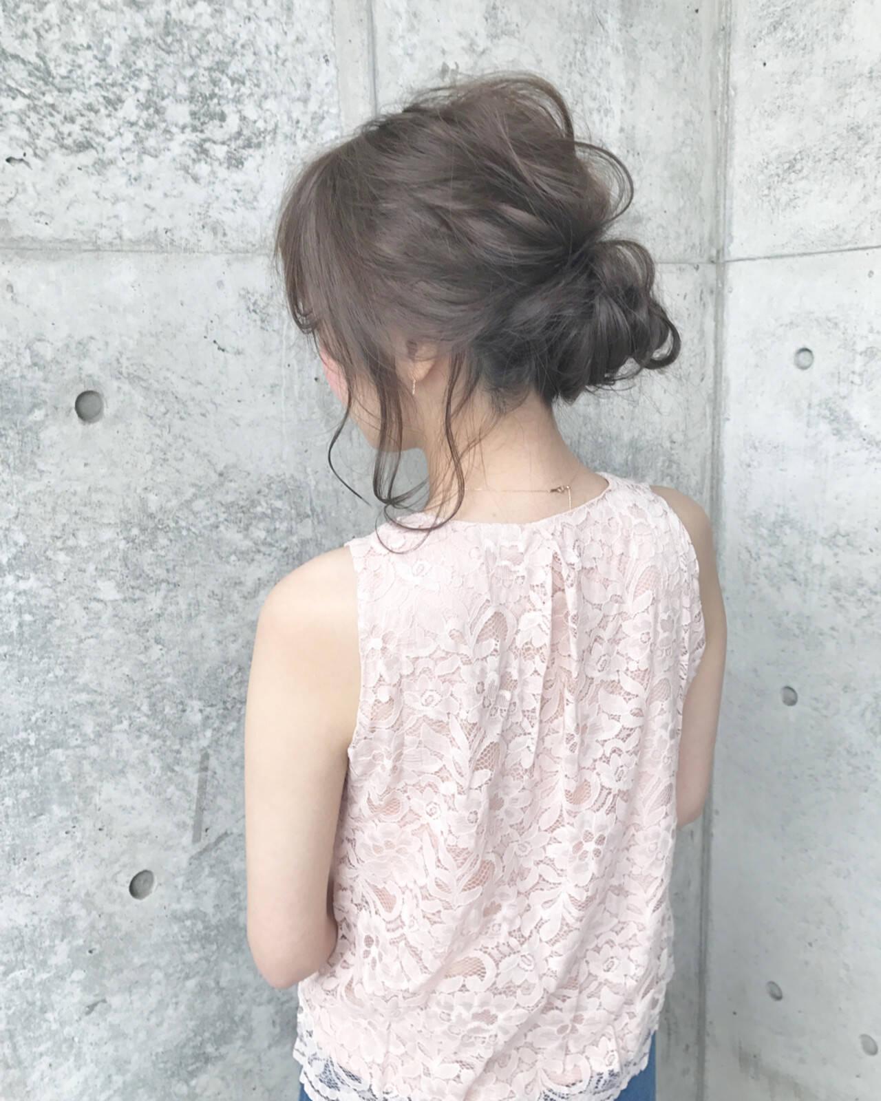 デート ロング 簡単ヘアアレンジ ナチュラルヘアスタイルや髪型の写真・画像