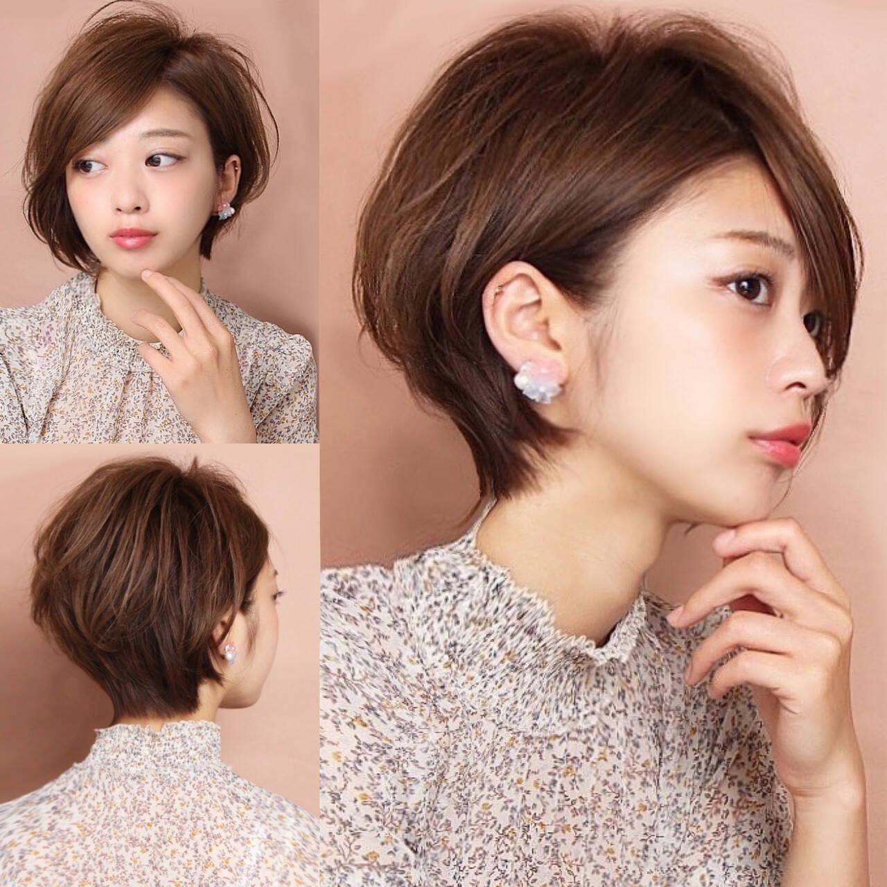 中村アン ショート ショートボブ ショートヘアヘアスタイルや髪型の写真・画像