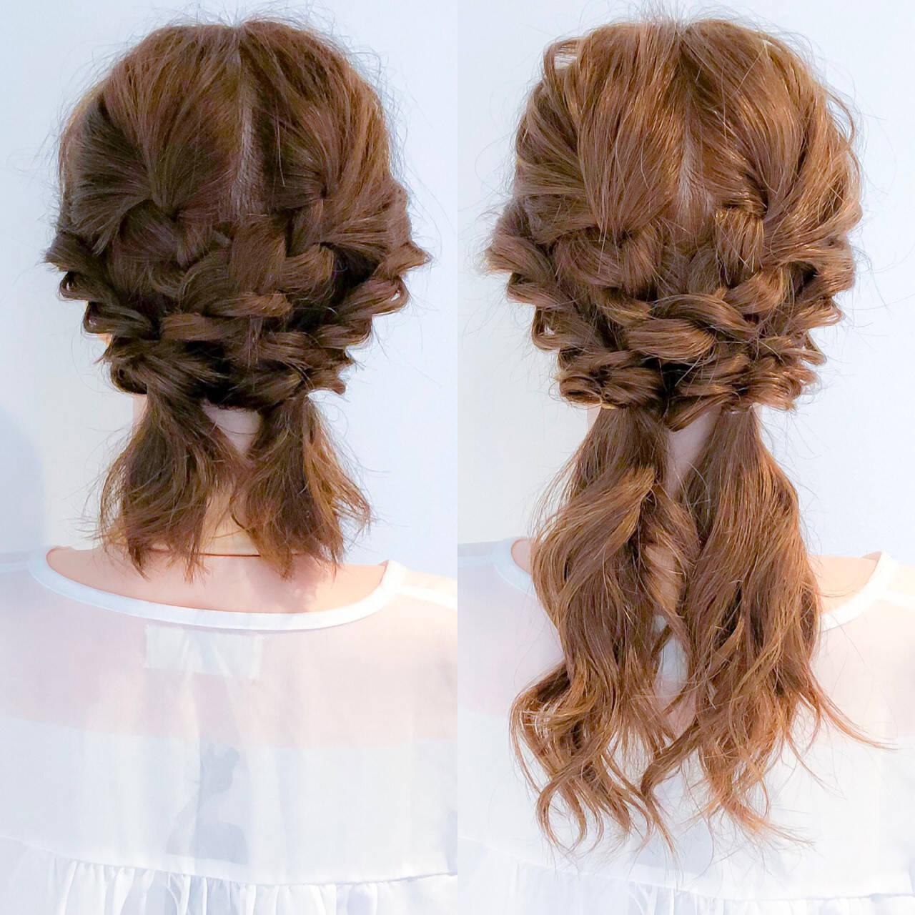 ロング フェミニン 簡単ヘアアレンジ 大人女子ヘアスタイルや髪型の写真・画像