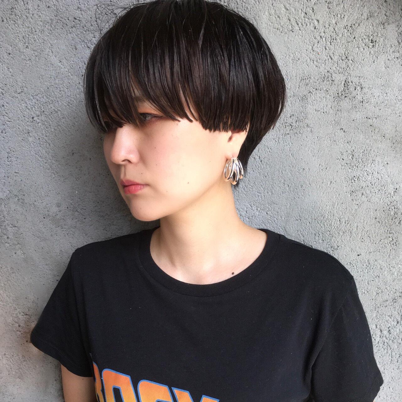黒髪 ナチュラル スポーツ ショートヘアスタイルや髪型の写真・画像