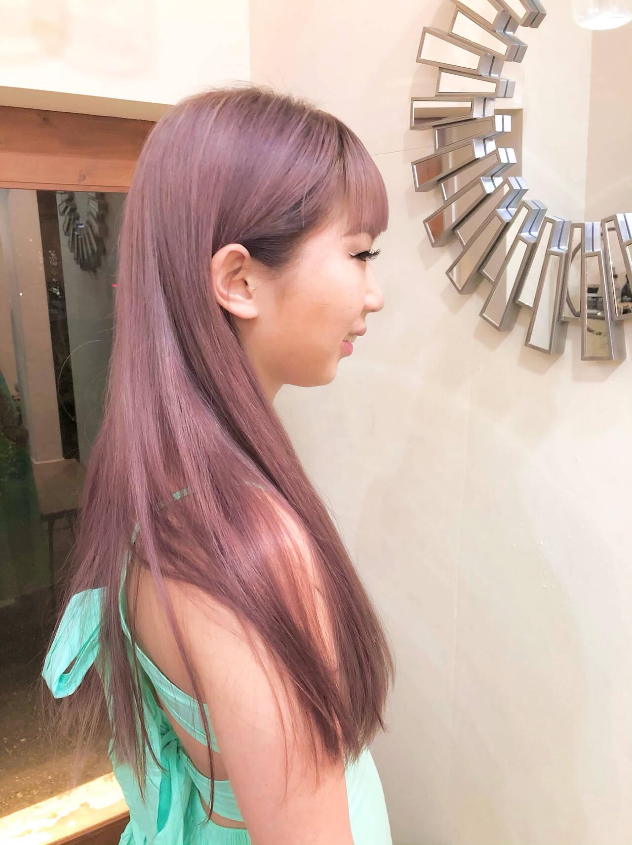 ハイライト グラデーションカラー ロング ハイトーンカラーヘアスタイルや髪型の写真・画像