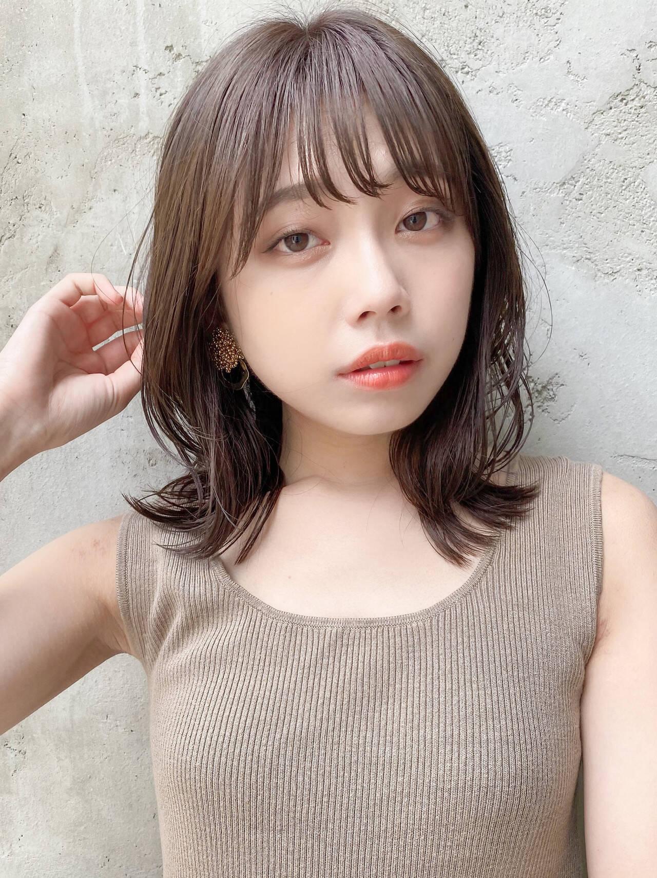 ウルフカット 韓国ヘア ナチュラル ヘアアレンジヘアスタイルや髪型の写真・画像