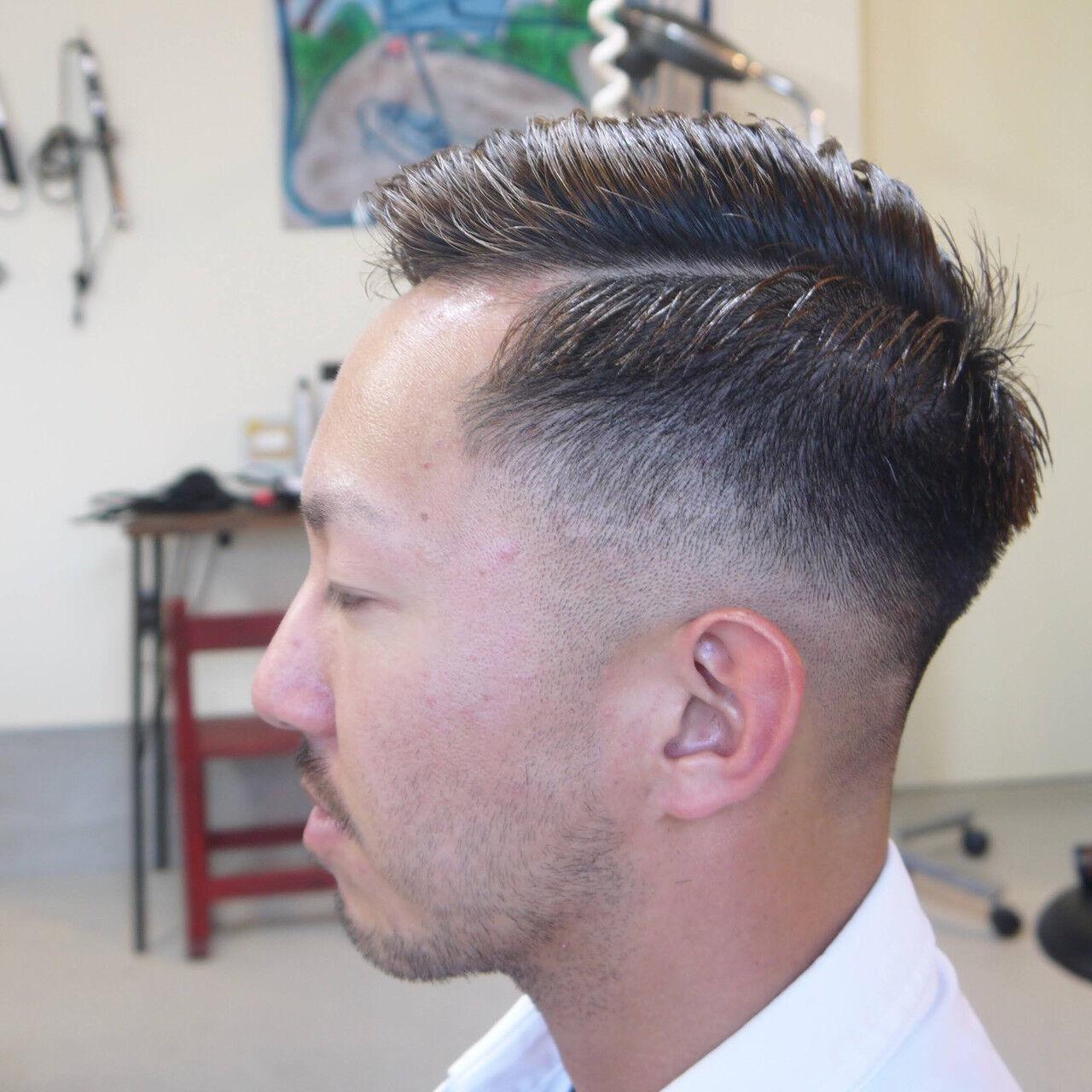 ナチュラル ショート スキンフェードヘアスタイルや髪型の写真・画像