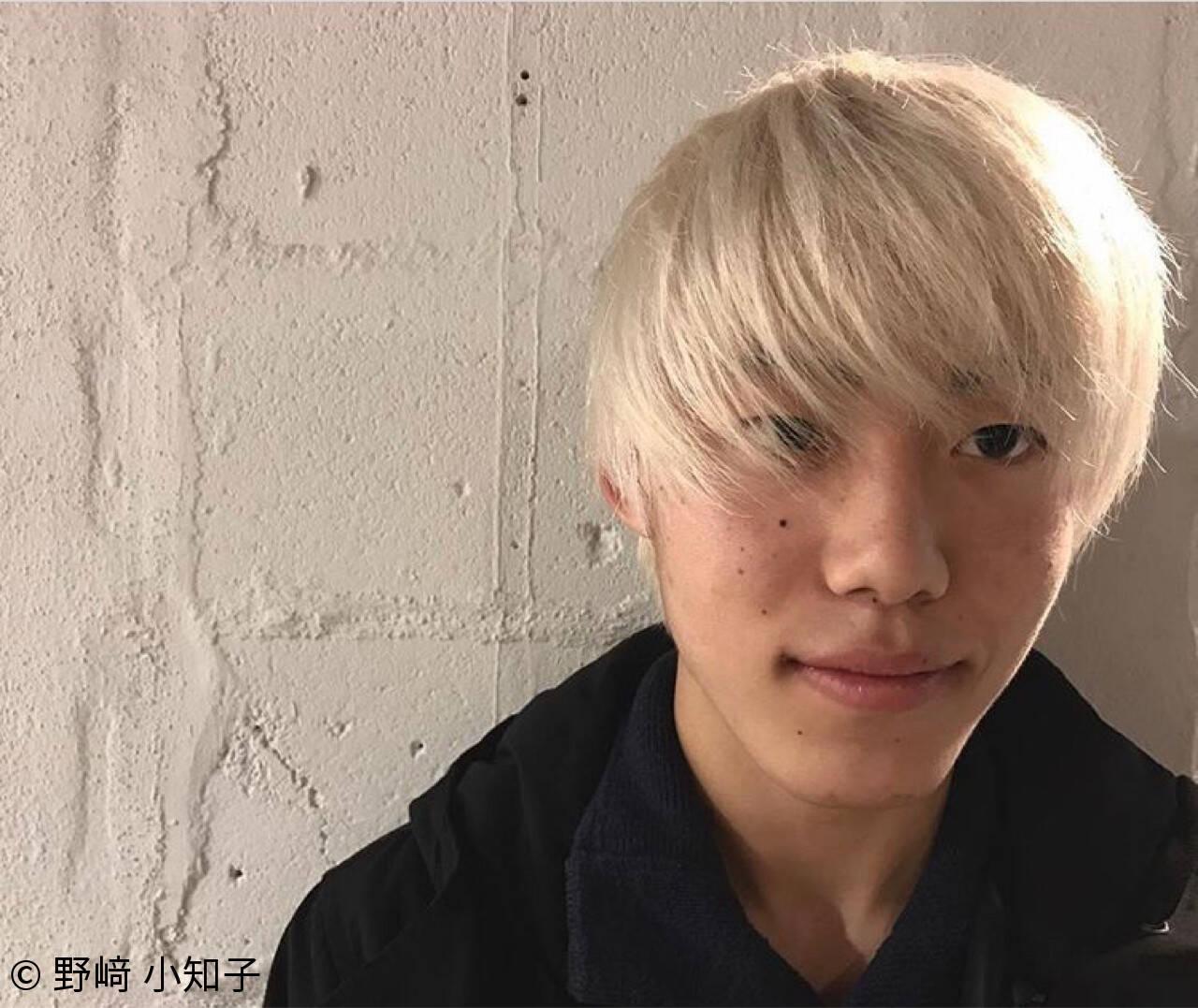 ショート ホワイト 外国人風 メンズヘアスタイルや髪型の写真・画像