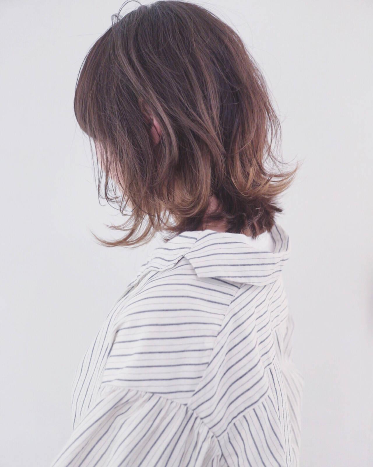 バレイヤージュ グラデーションカラー 透明感 外国人風カラーヘアスタイルや髪型の写真・画像