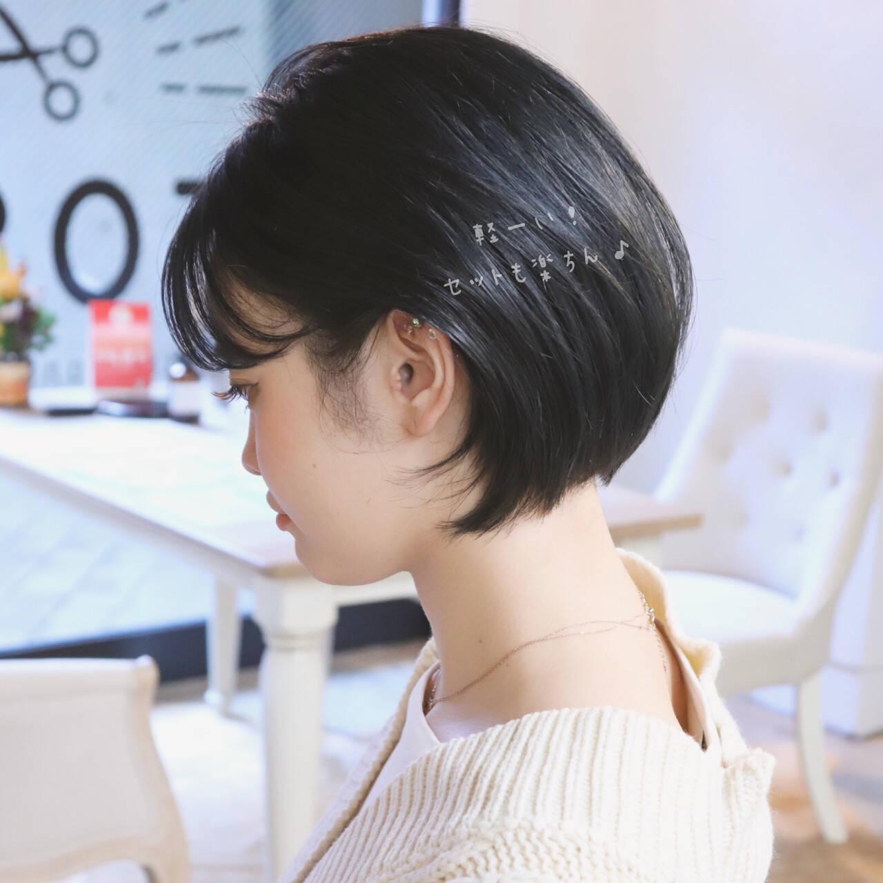 ナチュラル ゆるふわ ショート デートヘアスタイルや髪型の写真・画像