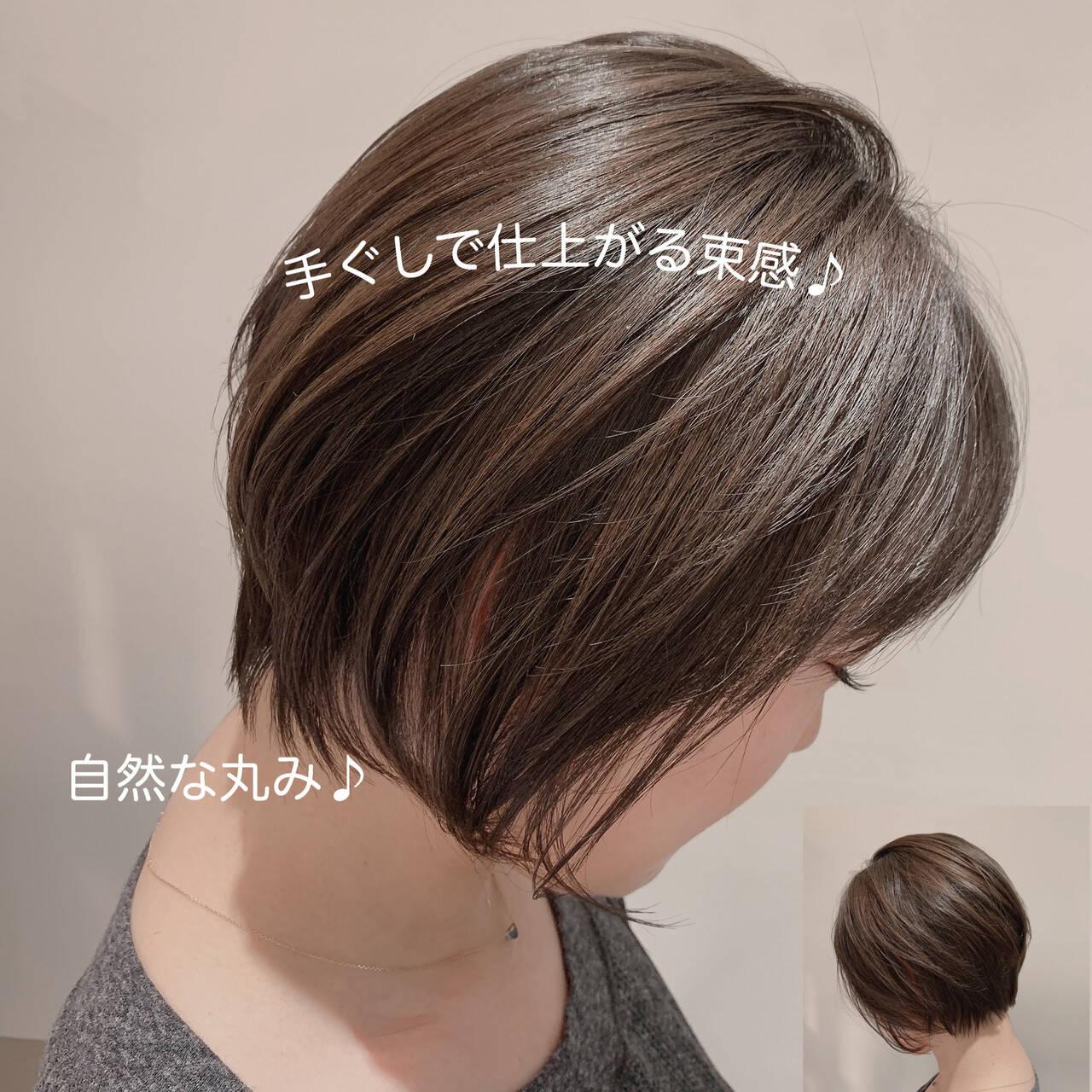 ふんわりショート 束感 ショートボブ ナチュラルヘアスタイルや髪型の写真・画像