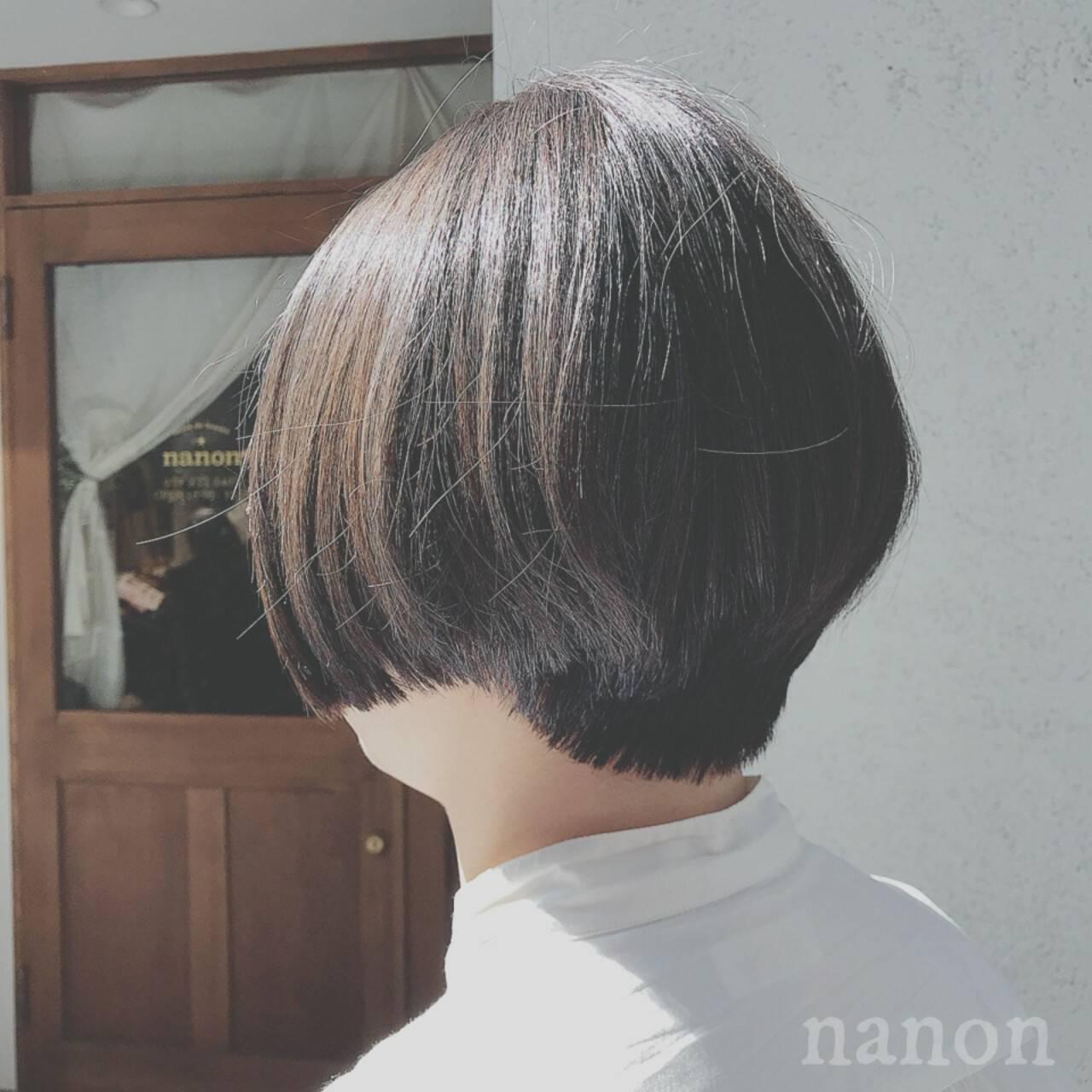 ナチュラル デート ゆるふわ ショートヘアスタイルや髪型の写真・画像