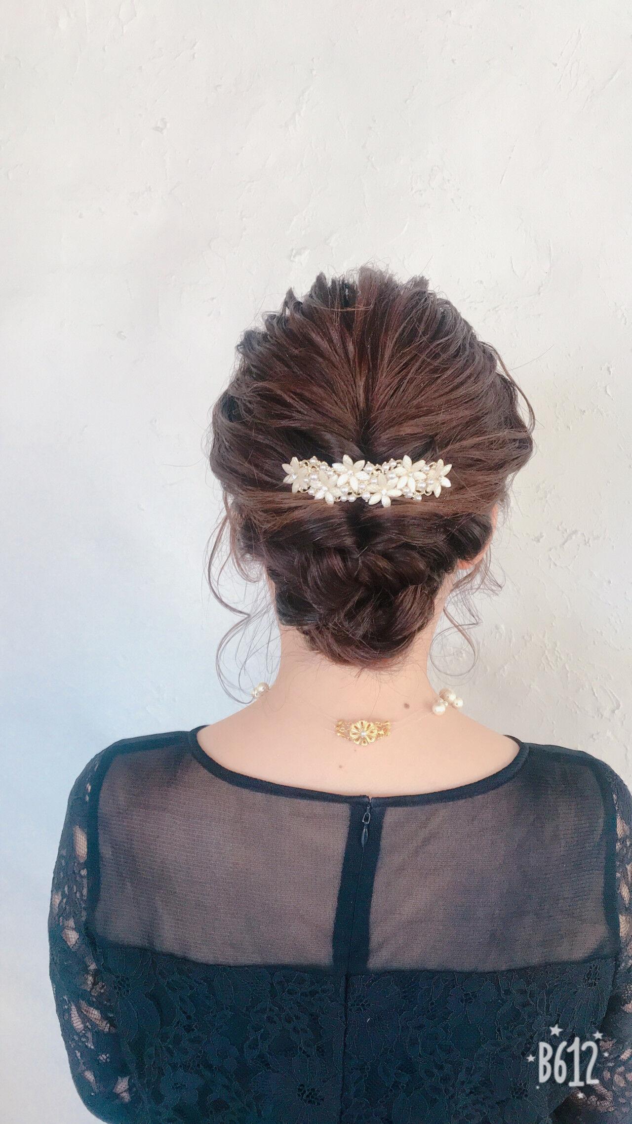 エレガント 成人式 簡単ヘアアレンジ デートヘアスタイルや髪型の写真・画像