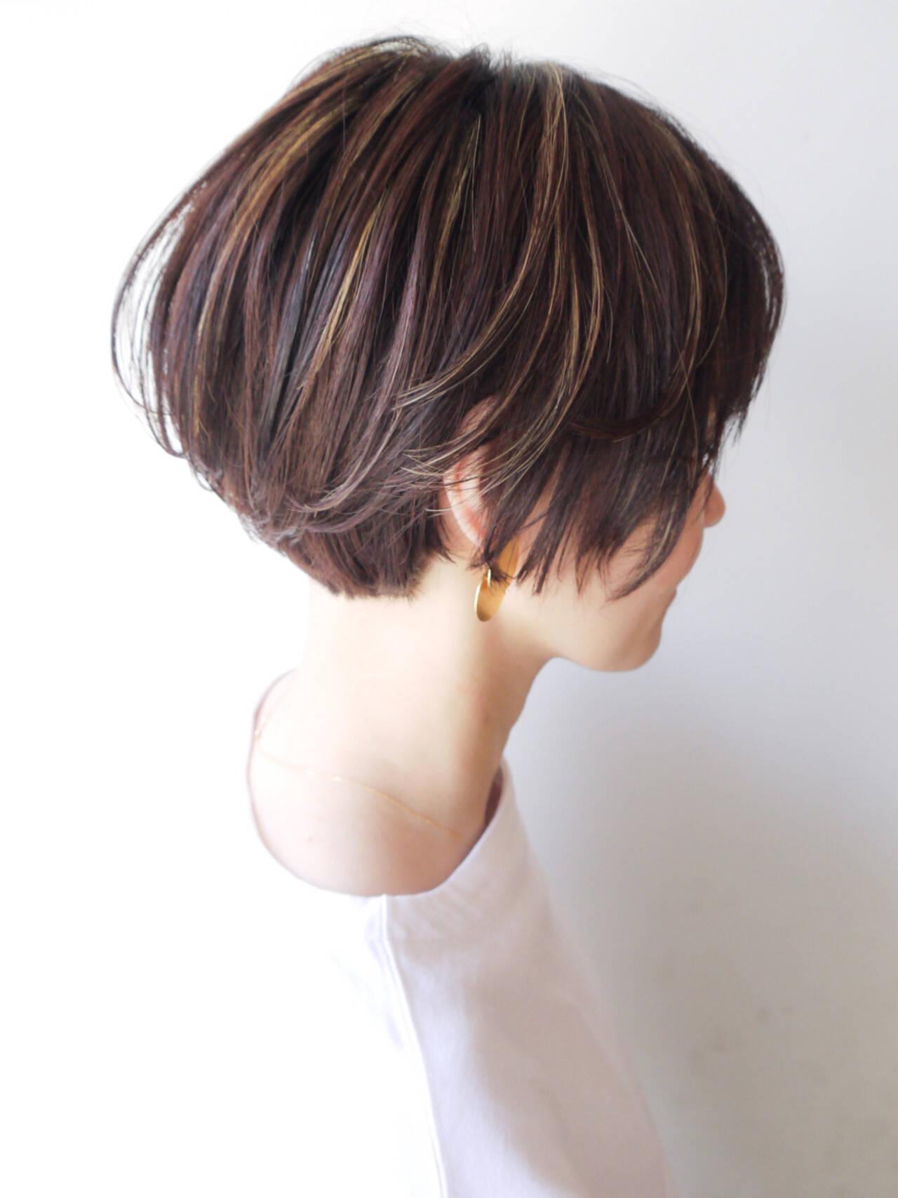 ショートボブ ショート コンサバ 女子力ヘアスタイルや髪型の写真・画像