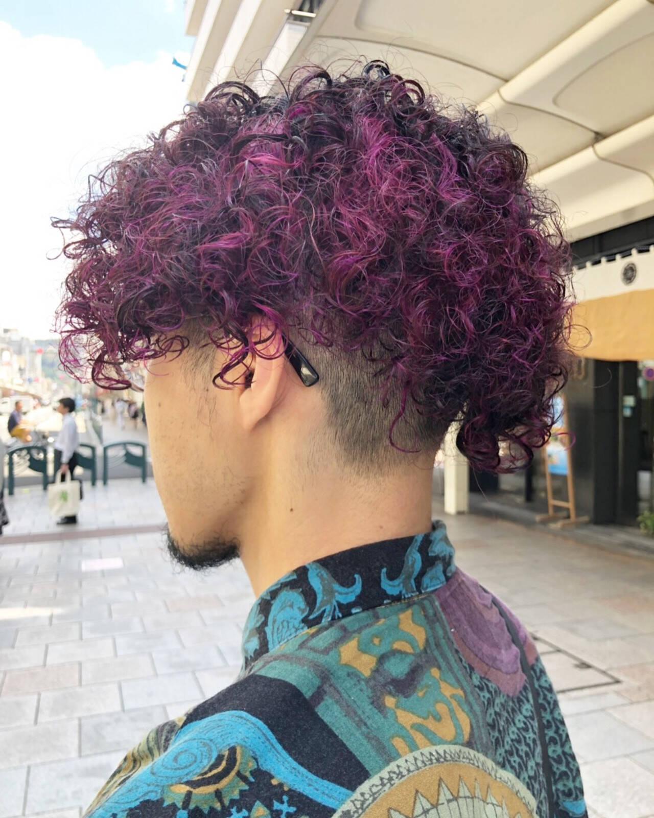 ショート メンズヘア ストリート メンズカラーヘアスタイルや髪型の写真・画像