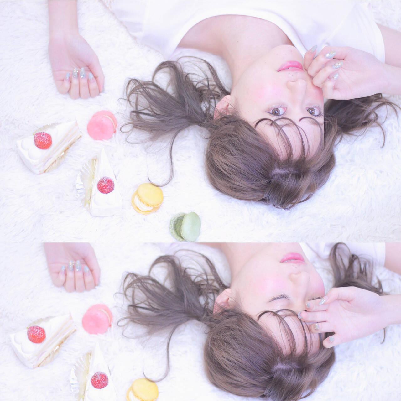 ミディアム ツインテール ガーリー ヘアアレンジヘアスタイルや髪型の写真・画像